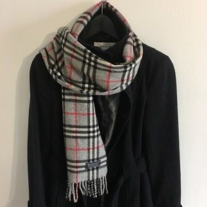 Authentic Burberry lambswool classic check scarf